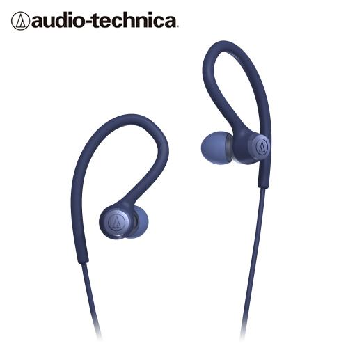 【audio-technica 鐵三角】耳塞式運動耳機 ATH-SPORT10 BL 藍色