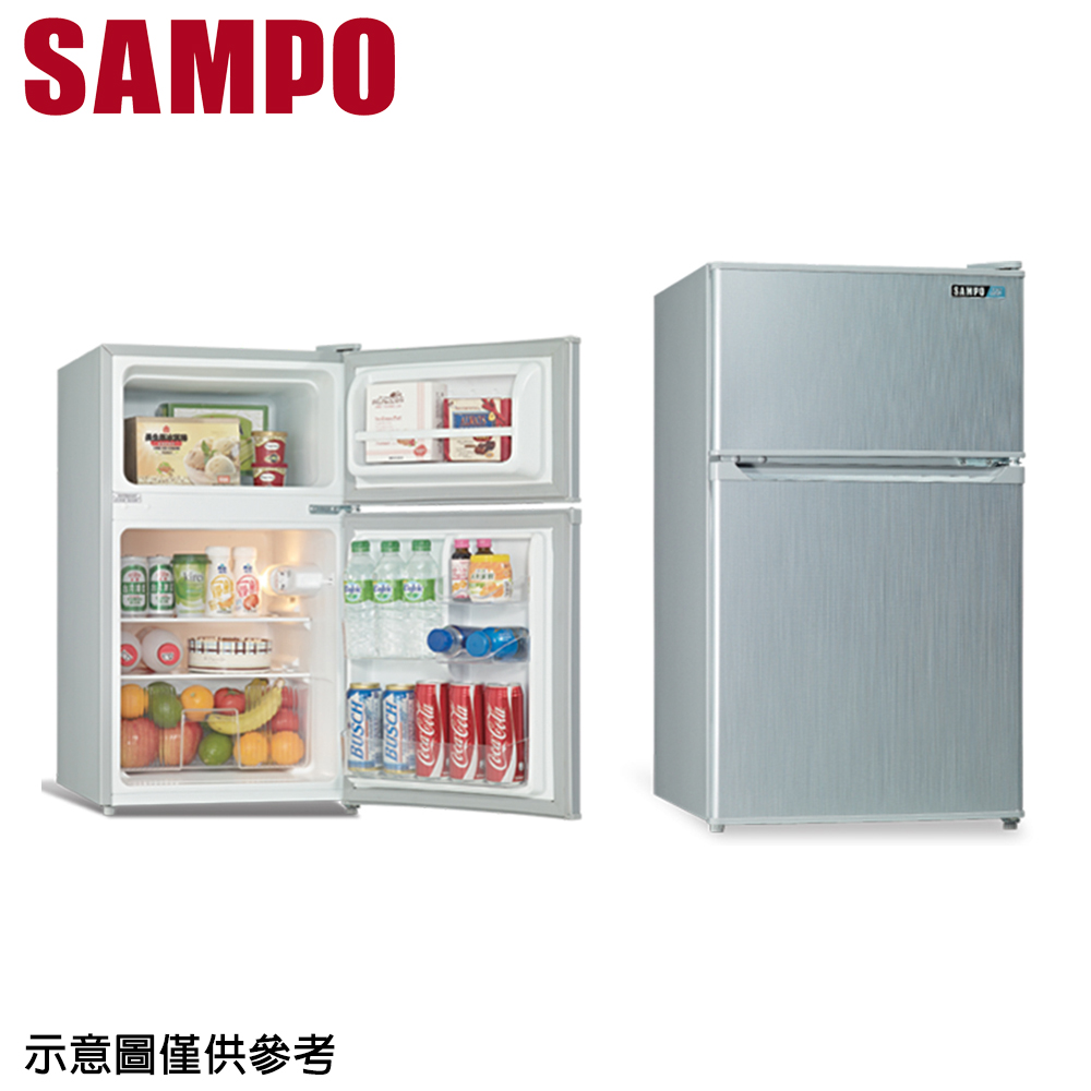 【SAMPO 聲寶】100公升雙門冰箱SR-A10G(只送不裝)