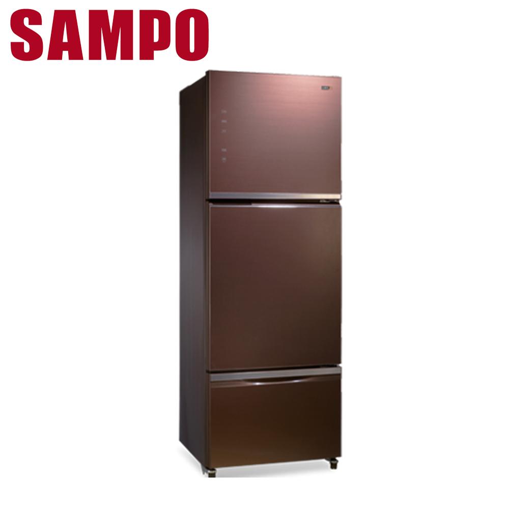 【SAMPO聲寶】530公升玻璃變頻三門冰箱SR-A53GDV(R7)