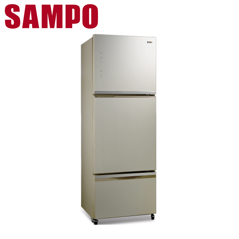 【SAMPO聲寶】530公升玻璃變頻三門冰箱SR-A53GDV(Y5)