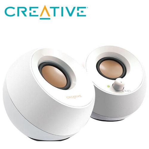 【CREATIVE】Pebble USB 2.0 桌上型喇叭 白色