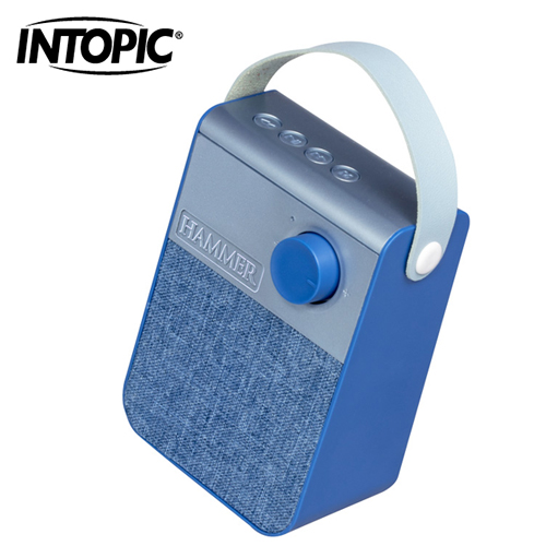 【INTOPIC 廣鼎】雅仕布紋藍牙喇叭 BT181-BL 藍