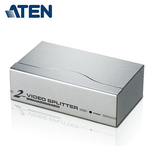 【ATEN 宏正】2埠 VGA 視訊螢幕分配器 (VS92A)