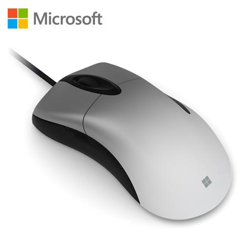 【Microsoft 微軟】閃靈鯊專業版遊戲滑鼠 銀珀款 (NGX-00005)