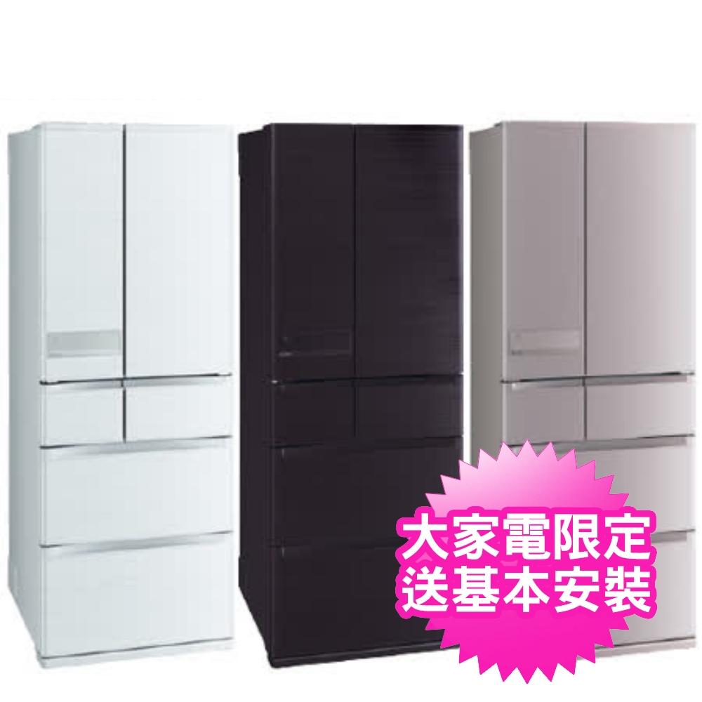 三菱6門605公升冰箱玫瑰金MR-JX61C-N-C