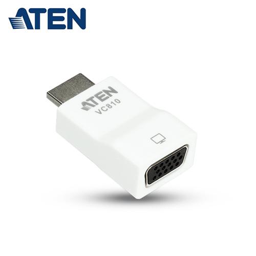 【ATEN 宏正】HDMI 轉VGA 視訊轉換器(VC810)