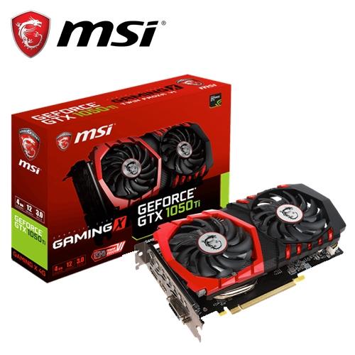 微星 GTX 1050 Ti GAMING X 4G顯示卡