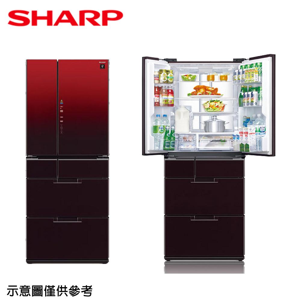 【SHARP夏普】601公升變頻六門對開冰箱SJ-GF60BT-R