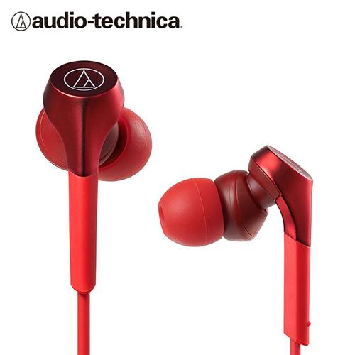 【audio-technica 鐵三角】ATH-CKS550X 耳道式耳機 / 紅