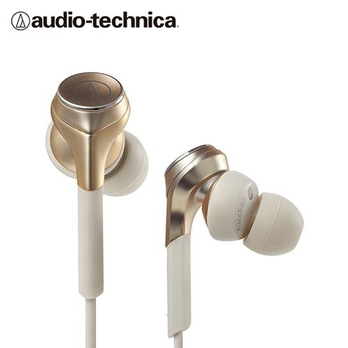 【audio-technica 鐵三角】ATH-CKS550X 耳道式耳機 / 金