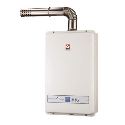 (全省原廠安裝)櫻花13公升強制排氣熱水器數位式H-1335