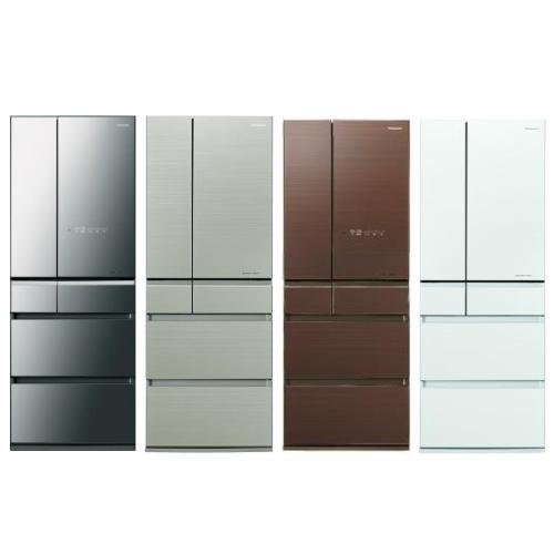 Panasonic國際牌600公升六門變頻冰箱翡翠棕NR-F604HX-T1