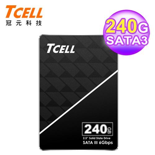 【TCELL 冠元】TT550 240GB SSD固態硬碟