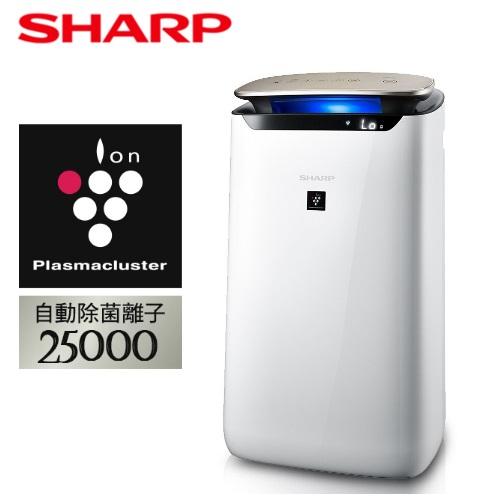 【SHARP 夏普】17~19坪  空氣清淨機FP-J80T-W