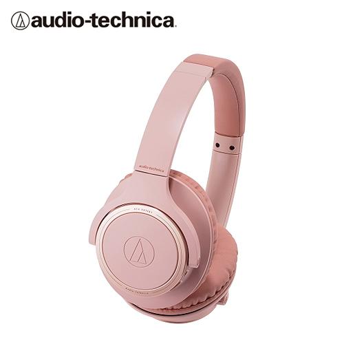 【audio-technica 鐵三角】ATH-SR30BT 耳罩式藍牙耳機(粉)