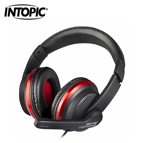 【INTOPIC 廣鼎】頭戴式耳機麥克風(JAZZ-567)