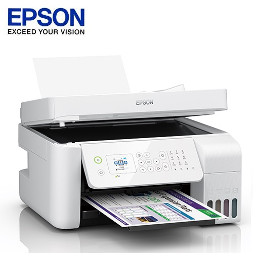 【EPSON 愛普生】L5196  雙網傳真連續供墨複合機 白色