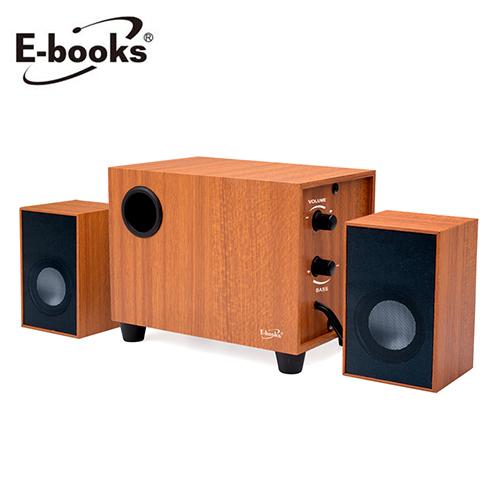 【E-books】D27 重低音2.1聲道木質多媒體喇叭