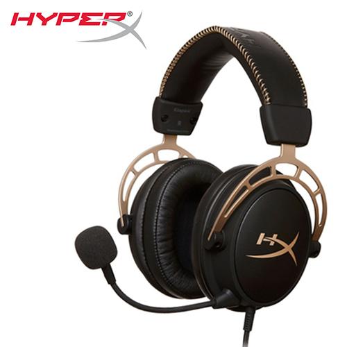 【HyperX 金士頓】Cloud Alpha 電競耳機 金色限量版 (HX-HSCA-GD/NAP)