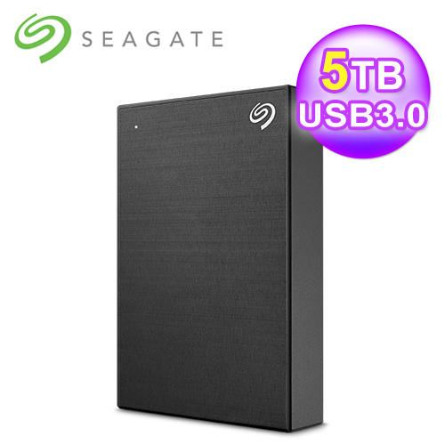 【Seagate 希捷】Backup Plus 5TB 2.5吋行動硬碟 極致黑