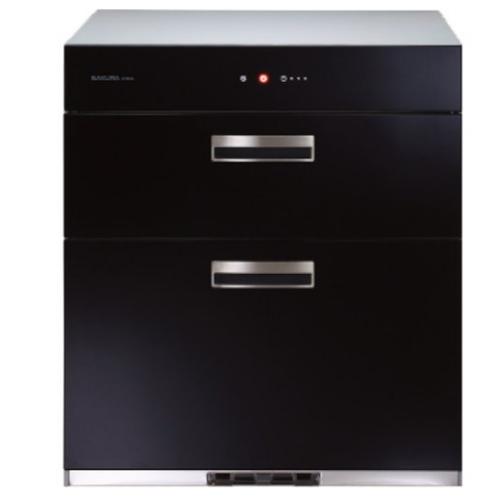 (含標準安裝)櫻花落地式全平面玻璃觸控70cm(與Q7693L同款)烘碗機黑色Q-7693L