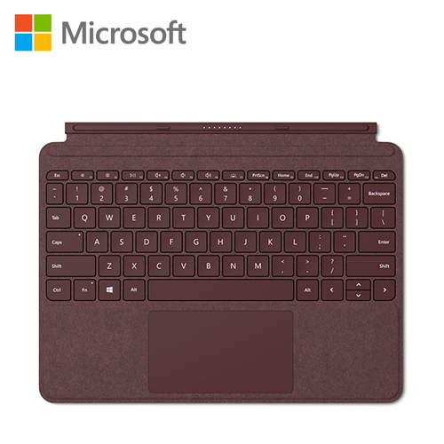 【Microsoft 微軟】Surface Go 實體鍵盤保護蓋(酒紅)KCS-00058