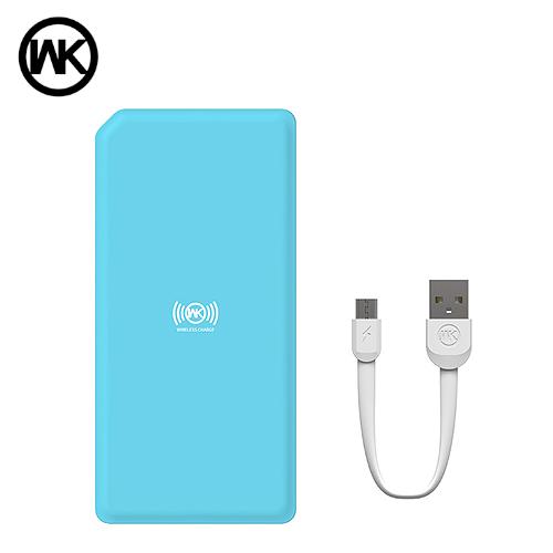 WK 明治 10000MAH 無線充電行動電源(藍)