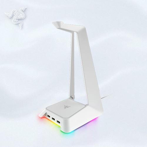預購【Razer 雷蛇】Razer Mercury 幻彩耳機架 白色