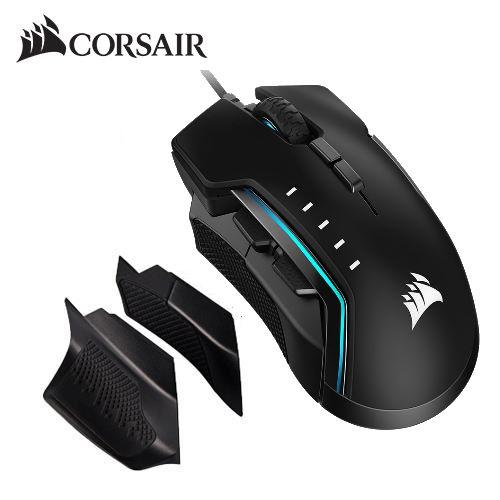 【CORSAIR 海盜船】GLAIVE PRO RGB 電競滑鼠(黑)