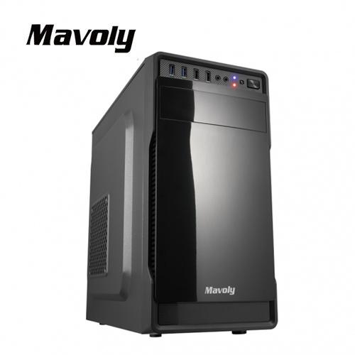 【Mavoly 松聖】葡萄柚 M-ATX機殼 (亮面黑)