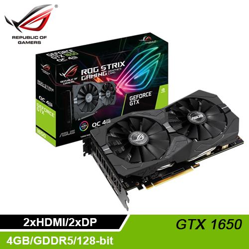 【ASUS 華碩】STRIX-GTX1650-O4G-GAMING 顯示卡