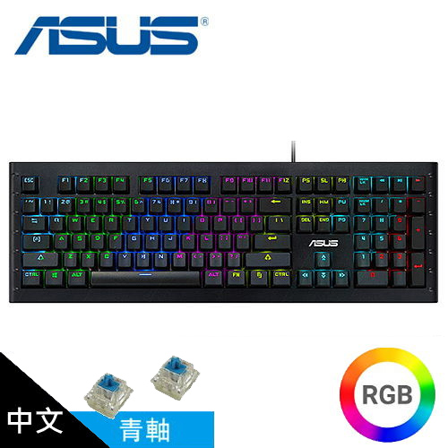 ASUS 華碩 GK1050 Gaming 炫彩電競鍵盤