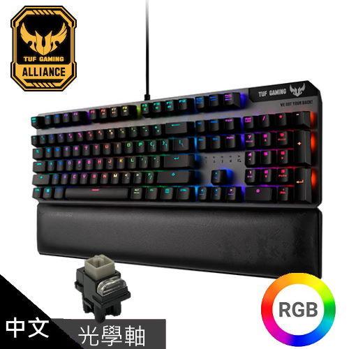 【ASUS 華碩】TUF Gaming K7 光學機械軸電競鍵盤