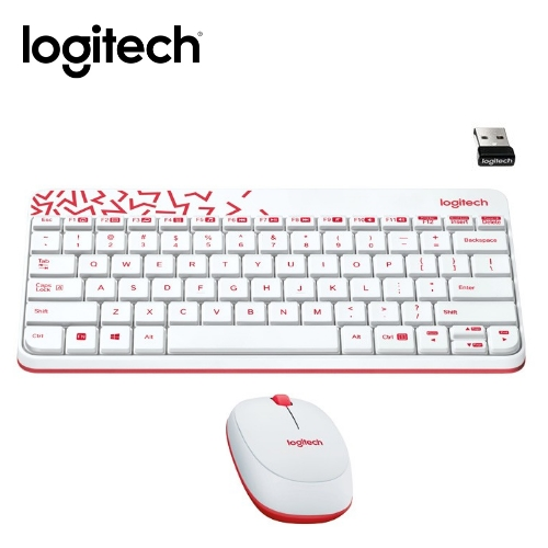 羅技 MK240 NANO無線鍵鼠組白色