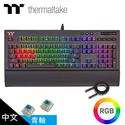 曜越 TT Premium X1 RGB Cherry MX 機械式電競鍵盤(青軸)