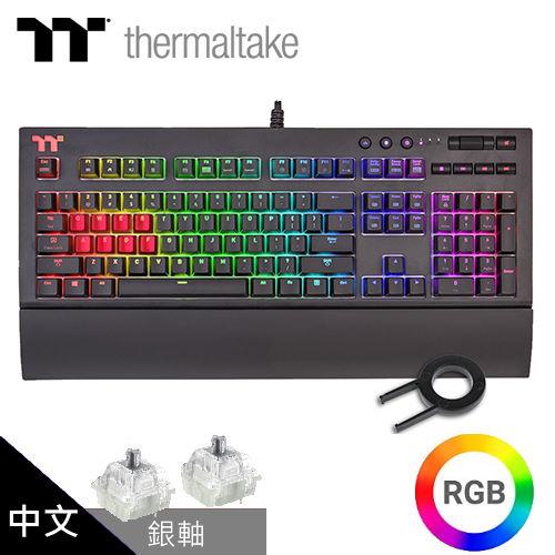 TT 曜越 Premium X1 RGB Cherry MX 機械式銀軸電競鍵盤