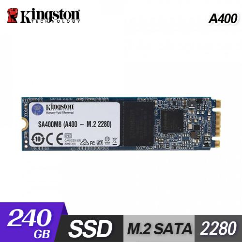 【Kingston 金士頓】A400 240GB M.2 固態硬碟(SA400M8/240G)