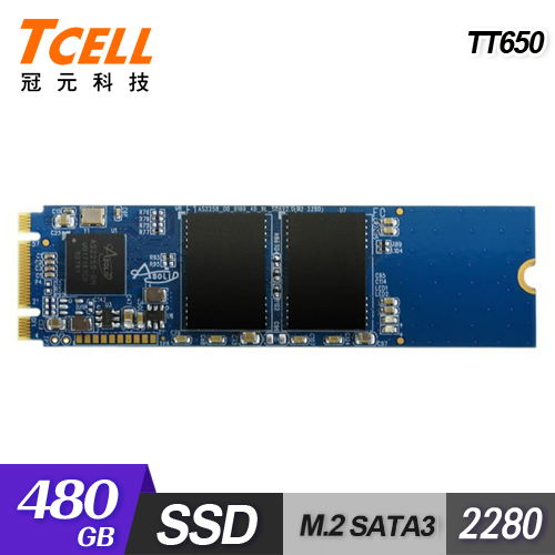 TCELL  冠元 TT650 M.2 480G SSD 固態硬碟