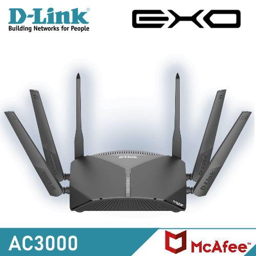 【D-Link 友訊】DIR-3060 AC3000 三頻Wi-Fi Mesh 無線路由器