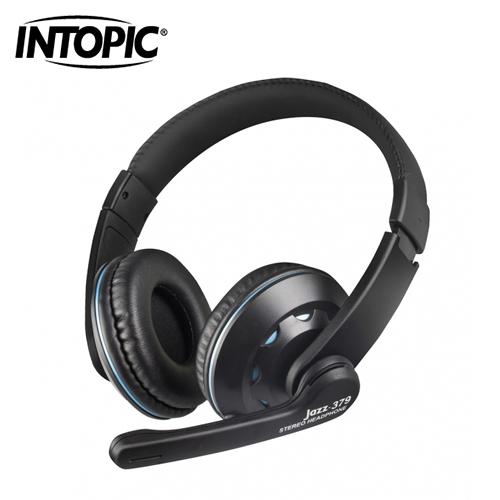 【INTOPIC 廣鼎】頭戴式耳機麥克風 JAZZ-379