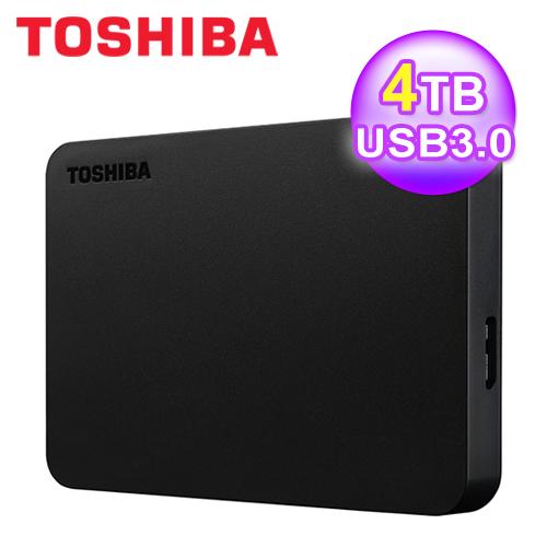 【TOSHIBA】黑靚潮III 4TB USB3.0 2.5吋行動硬碟(黑)