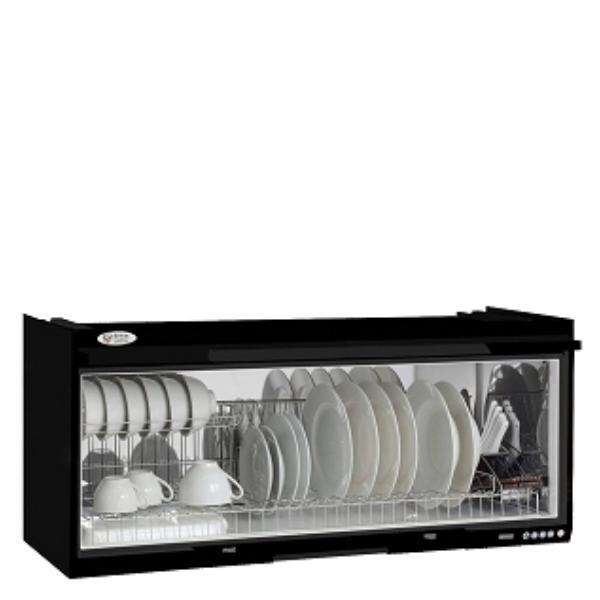 (全省安裝)喜特麗90公分臭氧電子鐘懸掛式(與JT-3690Q同款)烘碗機黑色JT-3690QB