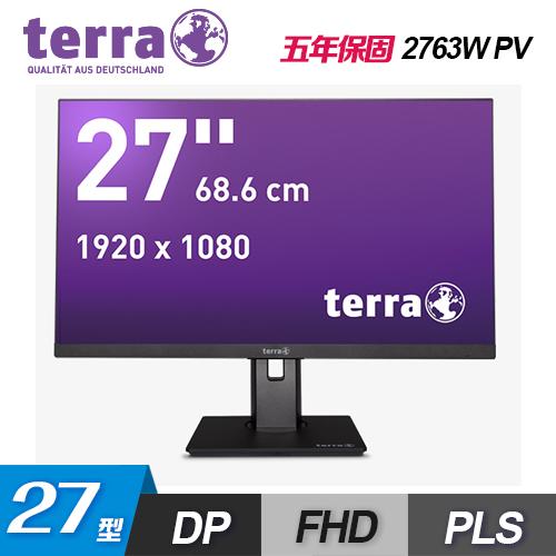 【terra 沃特曼】2763WPV 27型 PLS 超廣角抗藍光螢幕(五年保/可旋轉)