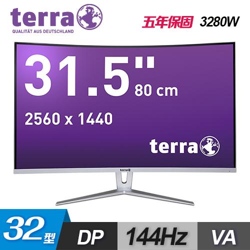 【terra 沃特曼】3280W 32型 VA WQHD 曲面電競螢幕(五年保)