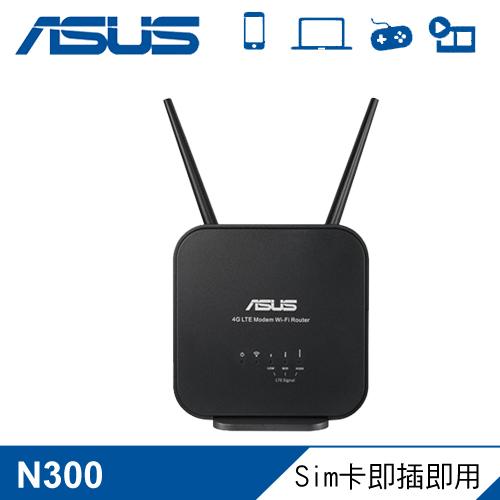 【ASUS 華碩】4G-N12 B1 4G LTE 可攜式無線路由器 黑色
