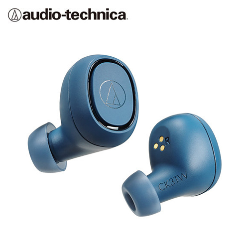 【audio-technica 鐵三角】ATH-CK3TW 真無線藍牙耳機(藍)