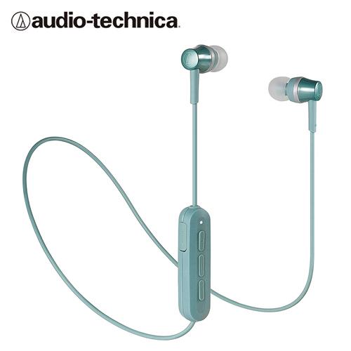 【audio-technica 鐵三角】ATH-CKR300BT 耳道式藍牙耳機(綠)