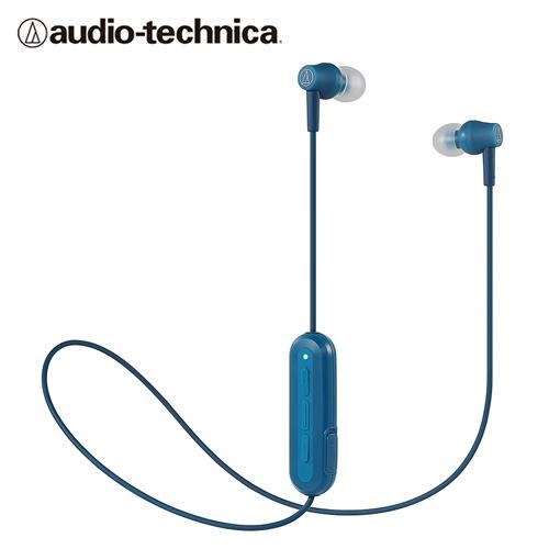 【audio-technica 鐵三角】ATH-CK150BT 耳道式藍牙耳機(藍)