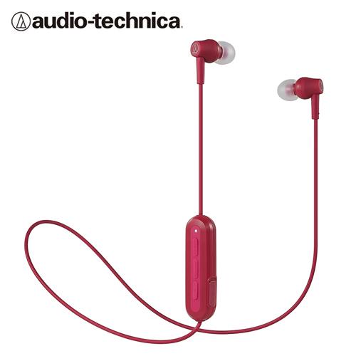 【audio-technica 鐵三角】ATH-CK150BT 耳道式藍牙耳機(紅)