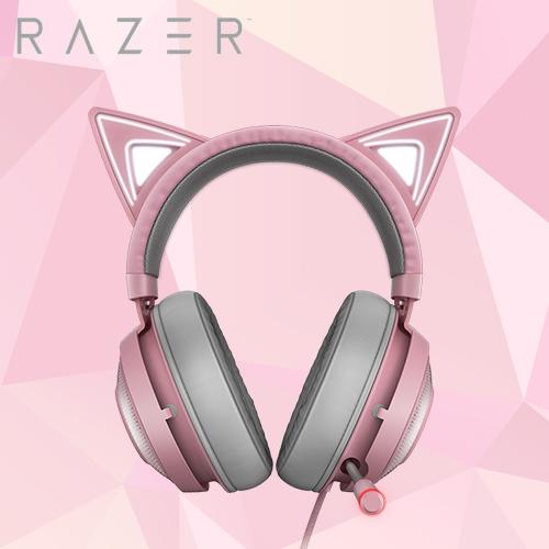 【Razer 雷蛇】北海巨妖 Kraken Kitty 電競耳機 粉色